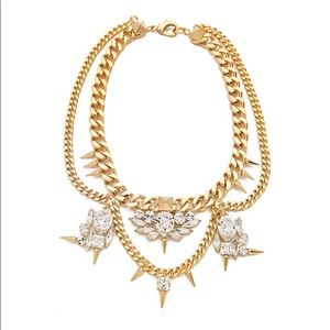 FALLON Classique Crystal Bib Necklace GOLD